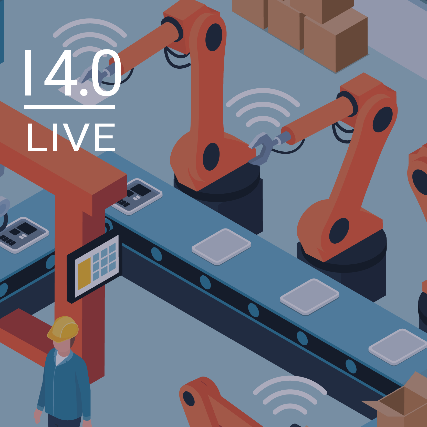 Blended Learning Industrie 4.0-Beispiele live in Laboren